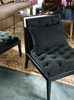 Greenwich Chair shown with:EbonyfinishSpaced Astorianailhead frame trim over ta