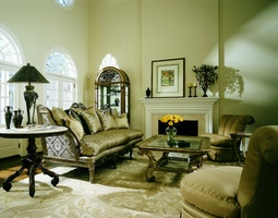 Marquesa Sofa shown with:Boxed bench seatExposed carved hardwood frame in Antique Silverfinish