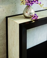 Malibu Console shown with:Bombay finishPolished Crystal Stone Beige top
