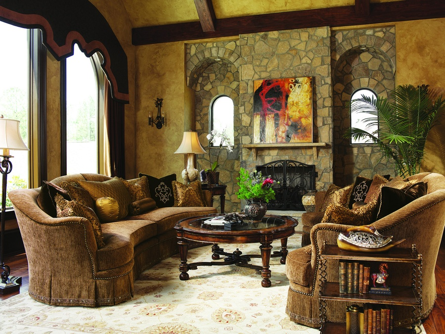 Maritza 2-Piece Sofa shown with:Boxed bench seatDeep skirt with built-in sides and backAntique Brass nailhead frame trim