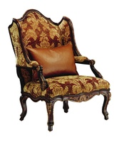 Palais WingChairshown with:Tight seat and backExposed carved hardwood frameMottlednailhead frame trim Exposed frame available in selection of finishes and optional finish trims