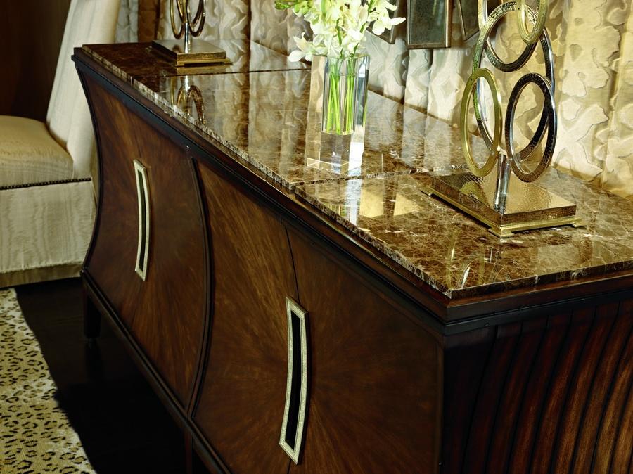 Sonoma Credenzashown with:HavanafinishEbony Paint finish trimPolished Madeira Marble topMedici Nickelhardware