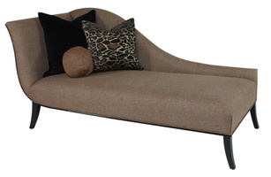 Andrea Chaise shown with:Tight seatEbony finishSelf welt frame trim