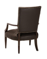 Aquarius Chair shown with:Tight seat and back with box quilted detailKona finishAntique Brass nailhead frame trim