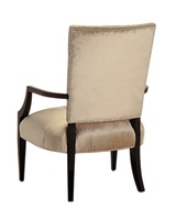 Aquarius Chair shown with:Tight seat and back with box quilted detailSumatra finishMerengue nailhead frame trim