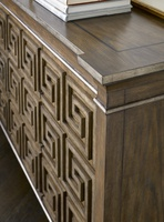 Arcadia Credenza shown with:Signature finishBronzed Silver finish on Greek Key doors