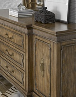 Arcadia Dresser shown with:Signature finishAged Medici Leaf finish trimAntique Nickel hardware