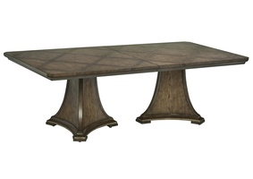 Arcadia Dining Table shown with:Signature finishBronzed Silver Leaf finish trim