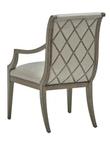 Arcadia Arm Chair shown with:Dapple finishBurnished Silver Leaf finish trimSmall Silver nailhead
