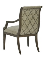 Arcadia Arm Chair shown with:Signature finishBronzed Silver Leaf finish trimSmall Silver nailhead spaced over fabric tape
