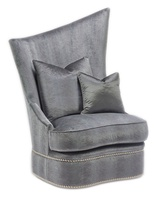 Artemis Chair shown with:Boxed seat cushionBuilt-to-the-floor baseMerengue nailhead frame trim