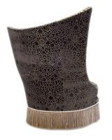 Artemis Chair shown with:Boxed seat cushionBullionSilver Nile nailhead frame trim