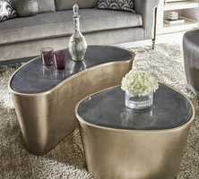 Bora Bora Cocktail Table shown with:Cashmere Silver finishGunmetal Mirror top