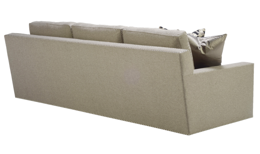 Bryant Sofa shown with:Boxed bench seatBuilt-to-the-floor baseSpaced SIlver nailhead frame trim over tape