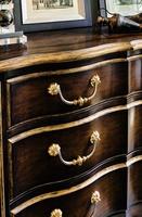 Wood Finish: AriaWood Finish Trim: Aged GoldHardware Finish:Combination of Polished Brass and Polished Nickel