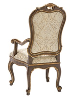Wood Finish: AriaWood Finish Trim: Aged GoldNailhead Frame Trim: Small Antique Heritage Fabric:Tallahassee Crest 6C0001Alternate fabrics available