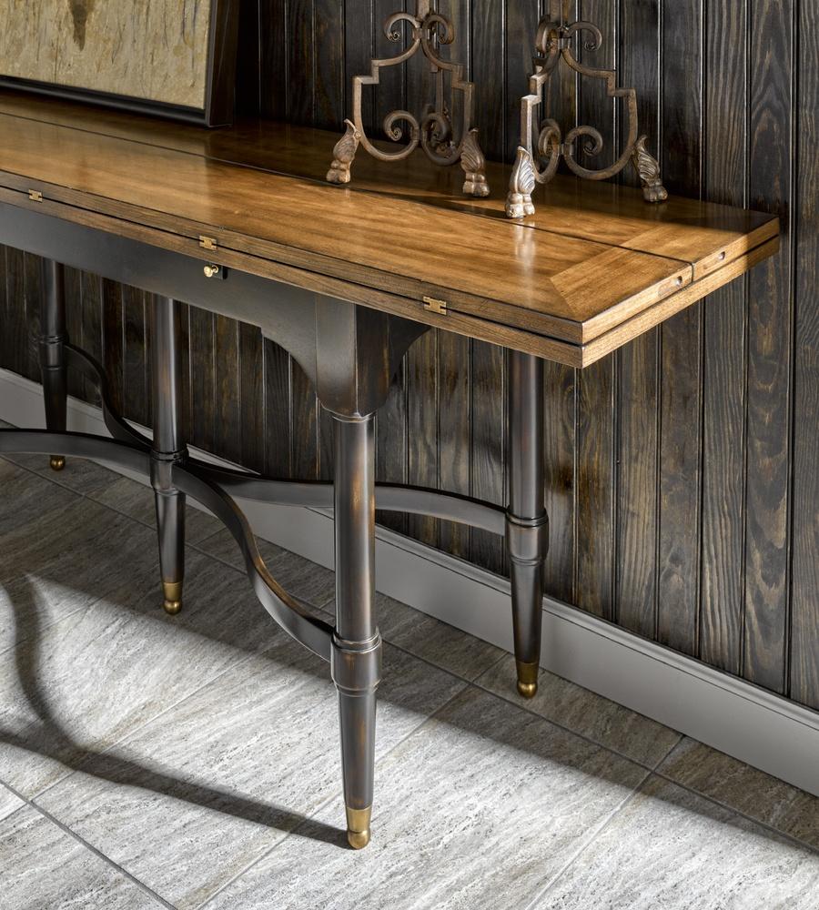 Wood Finish:CadenceContrast Leg Finish:TruffleHardware: Antique Brass