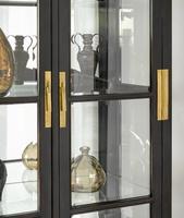 Wood Finish:TruffleHardwareFinish: Antique Brass