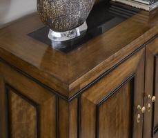 Wood Finish:CadenceWood Finish Trim:TruffleTop: Polished Absolute Black GraniteHardware Finish: Antique Brass