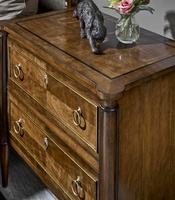 Wood Finish: CadenceWood Finish Trim: TruffleDecorative Metal Finish: Satin BrassHardware Finish: Antique Brass