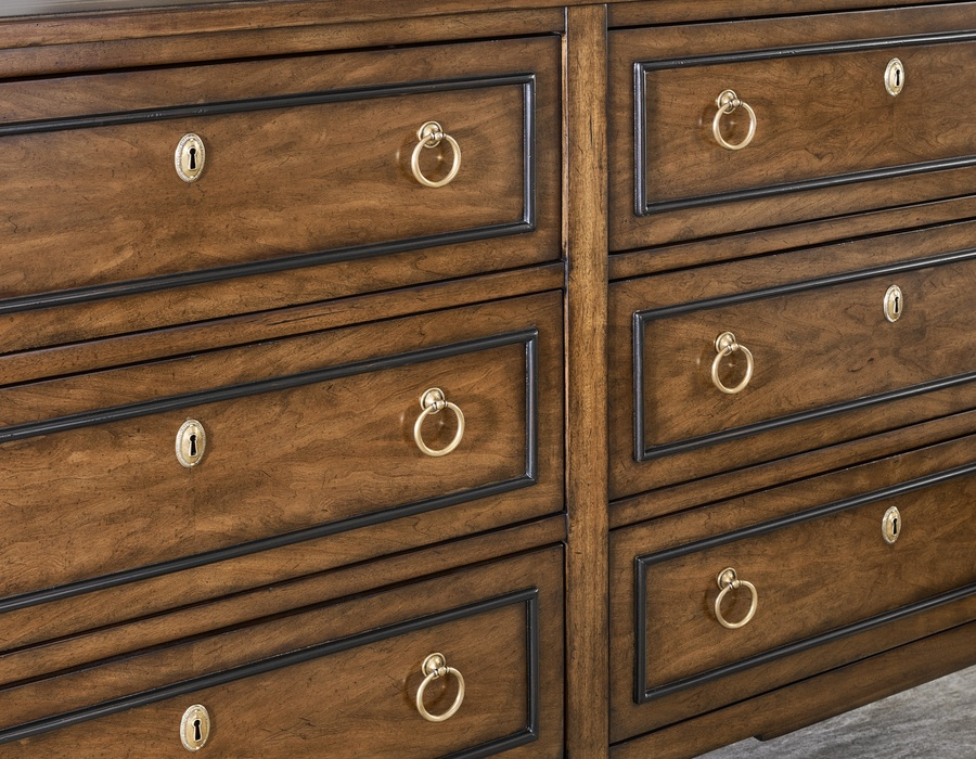 Wood Finish:CadenceWood Finish Trim:TruffleHardwareFinish: Antique Brass