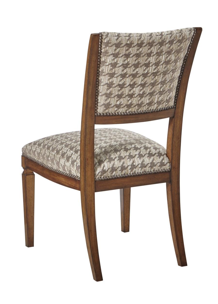 Wood Finish:CadenceNailhead Frame Trim: SmallMottled Fabric:Durham Houndstooth 6C0094 Alternate fabrics available