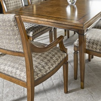 Cadence Dining Room Wood Finish:CadenceNailhead Frame Trim: SmallMottled Fabric:Durham Houndstooth 6C0094Alternate fabrics available