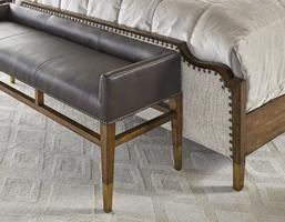 Cadence Bedroom Wood Finish:CadenceMetalFinish on Ferrules:Antique BrassNailhead Frame Trim: SmallMottled