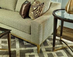 Shown with: Exposed Wood Leg Base in Cashmere Gold FinishSelection of finishes available