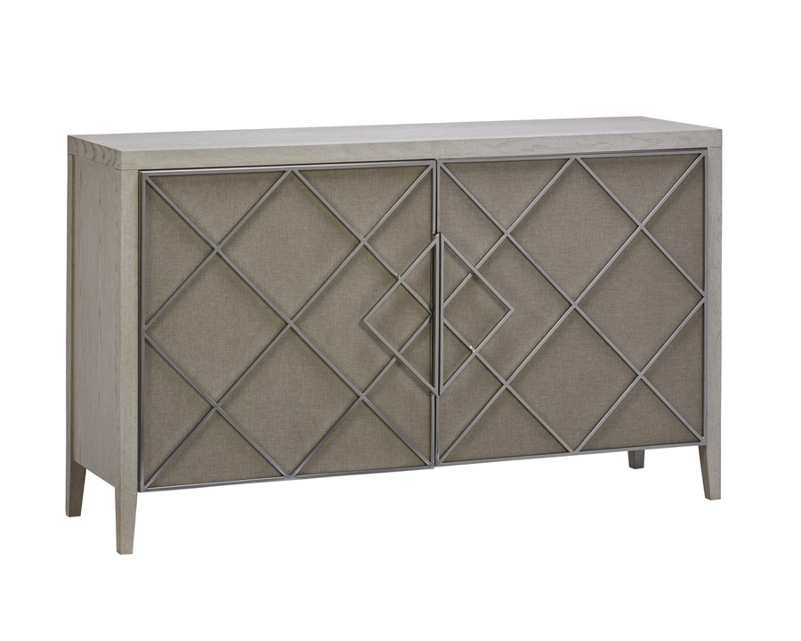Wood Finish: EnsembleDoors: LinenGrillwork: Matte Nickel