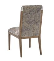 Wood Finish:HarmonyMetal Finish:Stainless Steel Fabric: Harvard Web 6C0009Alternate fabrics available