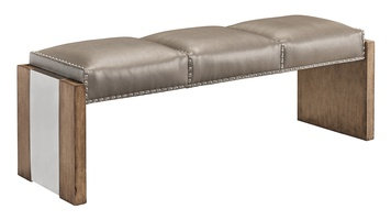 Wood Finish: HarmonyMetal Accents Finish: Stainless SteelFrame Trim: Small silver nailhead spaced over Self Fabric tape