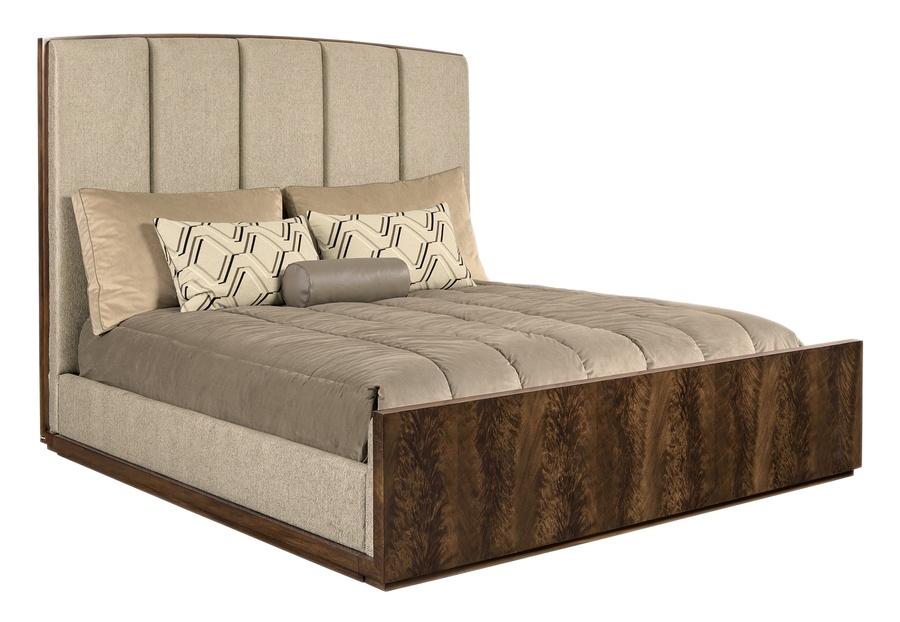 Wood Finish: Melody Headboard Fabric:Riverside Taupe C60046Alternate fabrics available