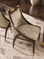 Wood Finish: MelodyMetal Finish on Top Detail and Ferrules: Satin BrassNailhead Frame Trim: Small Antique HeritageFabric:Zenia Spot C60047Alternate fabrics available