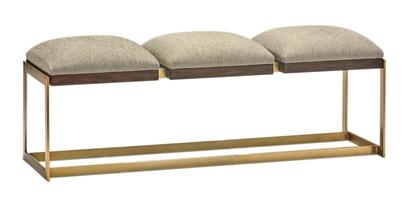 Wood Finish: MelodyMetal Finish: Satin BrassFabric: Riverside Taupe 6C0046Alternate Fabrics Available