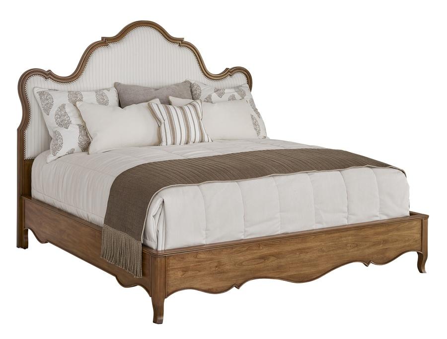Wood finish:SonataFrame trim:Medium Pewter nailhead Selection of fabrics available.