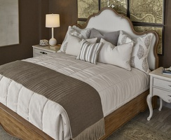Wood finish: SonataFrame trim: Medium Pewter nailhead