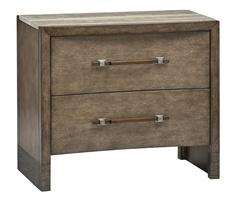Wood Finish: TempoTop: PolishedSilver Travertine MarbleContrast Base: Metallic BronzeHardware Finish: Metallic Bronze and Antique Nickel