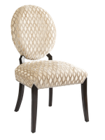 Century City Side Chair shown with: Tight seat and back Bombay finish Silver nailhead frame trim