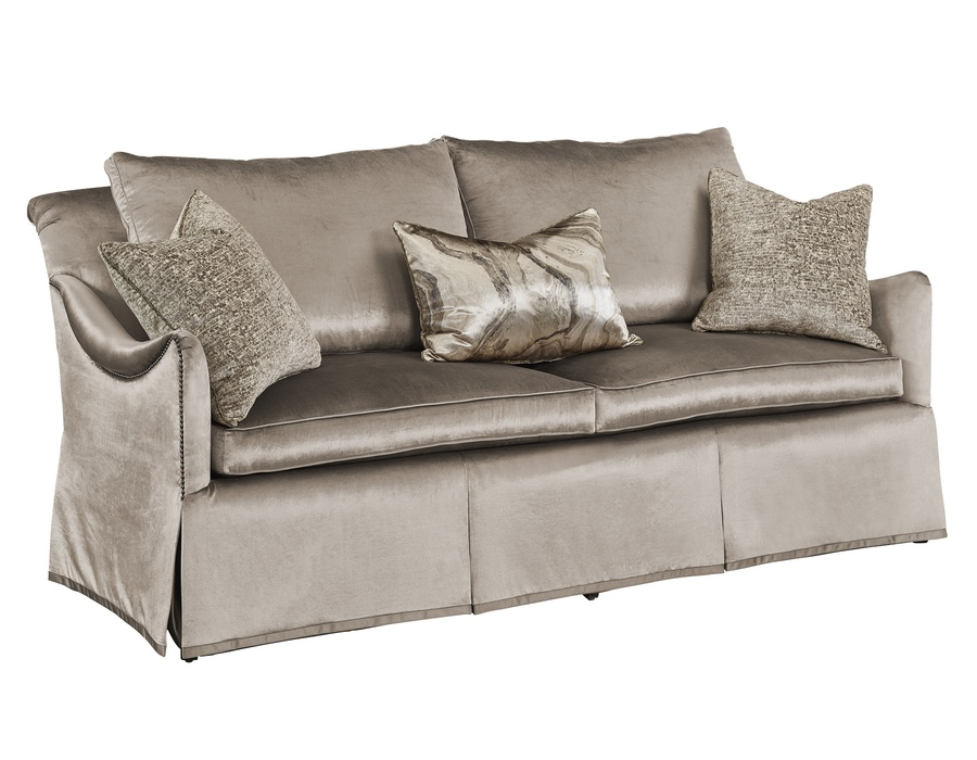 Chloe Sofa shown with:Waterfall skirt with built-in-sides and back