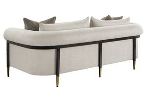 CollinsSofa shown with:Boxed bench seatBombay finishSatin Brass finish on dcecorative ferrules