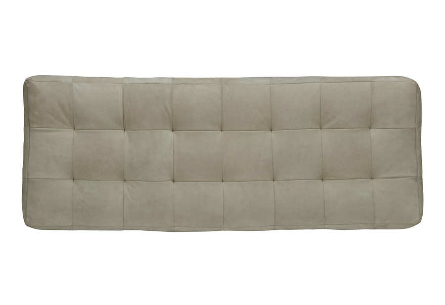 "Coronado Ottoman shown with:Semi-Attached seat with Box QuiltingExposed Wood Legs in Contemporary Havana finishAntique Heritage nailhead frame trim24"" x 64"""