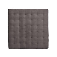 "Coronado Ottoman shown with:Box Quilted Tight SeatPlinth Base in Dark Bay finishGunmetal nailhead frame trim56"" sq."