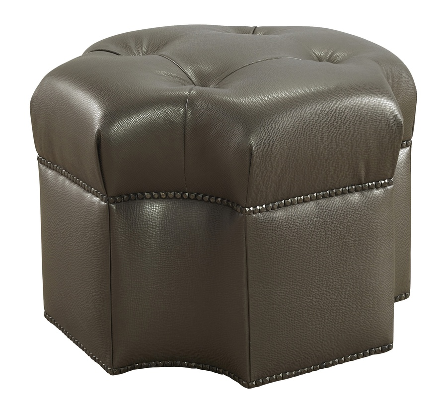 "Coronado Ottoman shown with:Box Quilted Tight SeatBuillon BaseSamurai nailhead frame trim48"" sq."