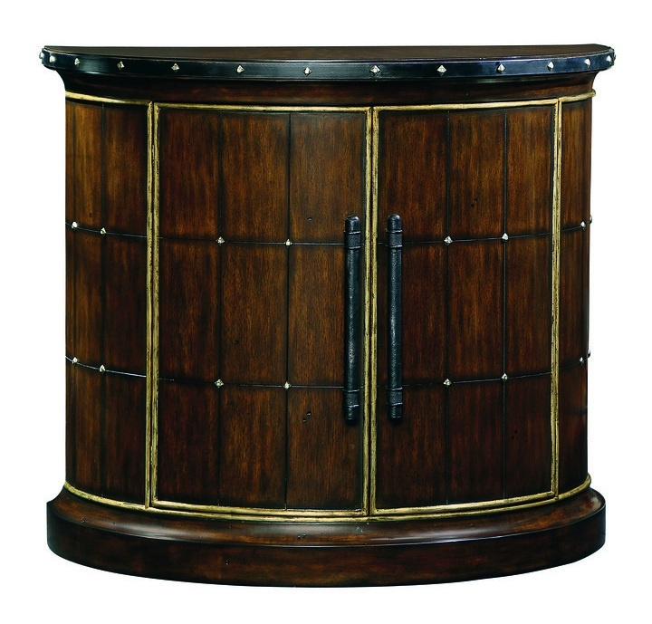 Cross Channel Chest shown with:Havana finish with metal leaf finish trimDecorative metalwork in Blackened Iron finish withAntique Medici Leaf finish trimBlackened Iron hardware