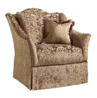 Courtney Chair shown with:Tight seatDeepskirt with built-in sides and backBronze Starnailheadframe trim