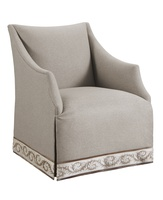 Dahlia Chair shown with:TightseatWaterfall skirtTape trim at base of skirt