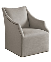 Dahlia Chairshown with:TightseatBuilt-to-the-floor base with swivel optionSmall Antique Heritage nailhead trim