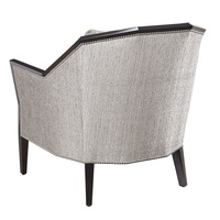 DaVinci Chair shown with:Boxed cushion seatBombay finishSilver nailhead frame trim