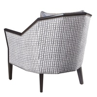 DaVinci Chair shown with:Boxed cushion seatBombay finishMerengue nailhead frame trim